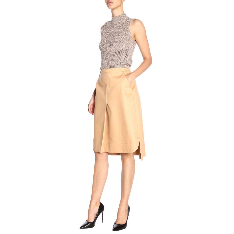 Skirt women Jil Sander biscuit 4