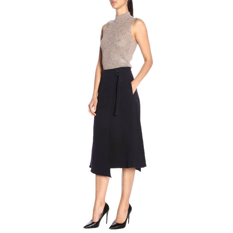 Skirt women Jil Sander blue 4