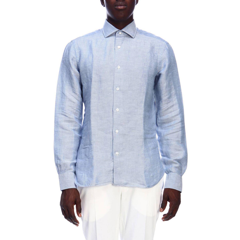 Рубашка Мужское Barba Napoli небесно-голубой 1