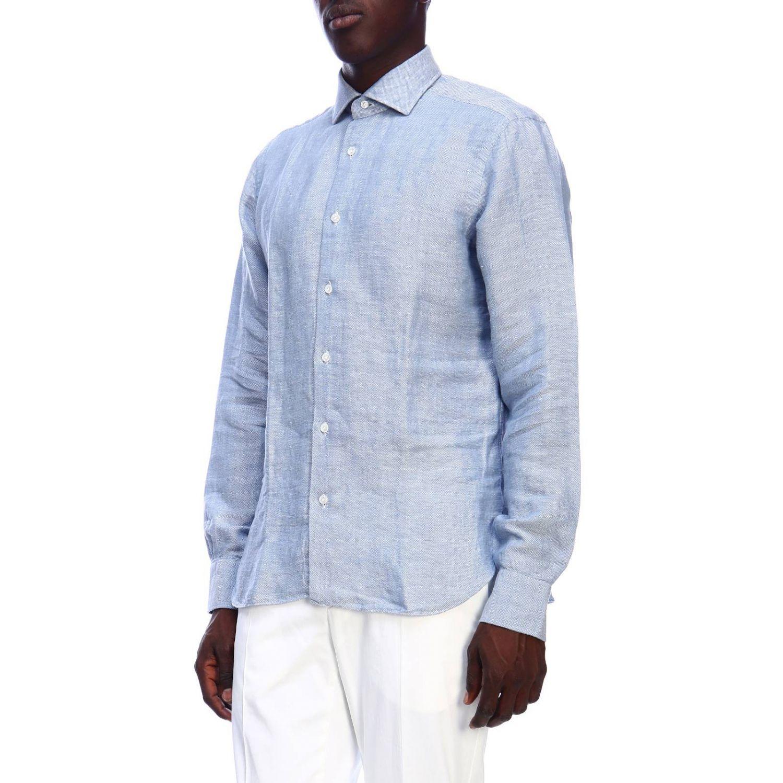 Рубашка Мужское Barba Napoli небесно-голубой 2