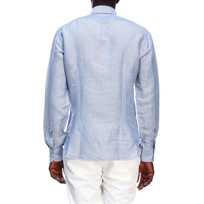 Рубашка Мужское Barba Napoli небесно-голубой 3