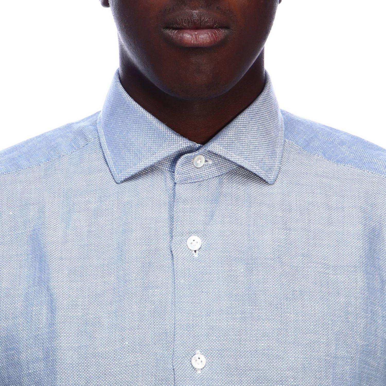Рубашка Мужское Barba Napoli небесно-голубой 4