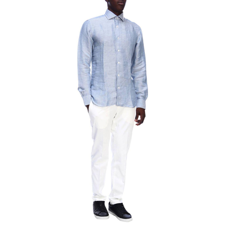 Рубашка Мужское Barba Napoli небесно-голубой 5