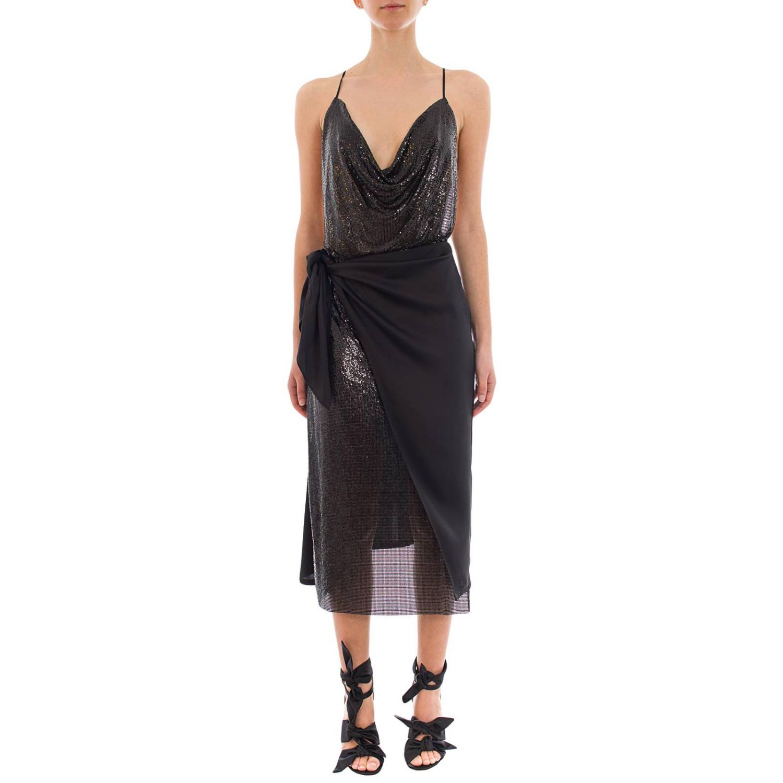 Dress women Paco Rabanne black 1