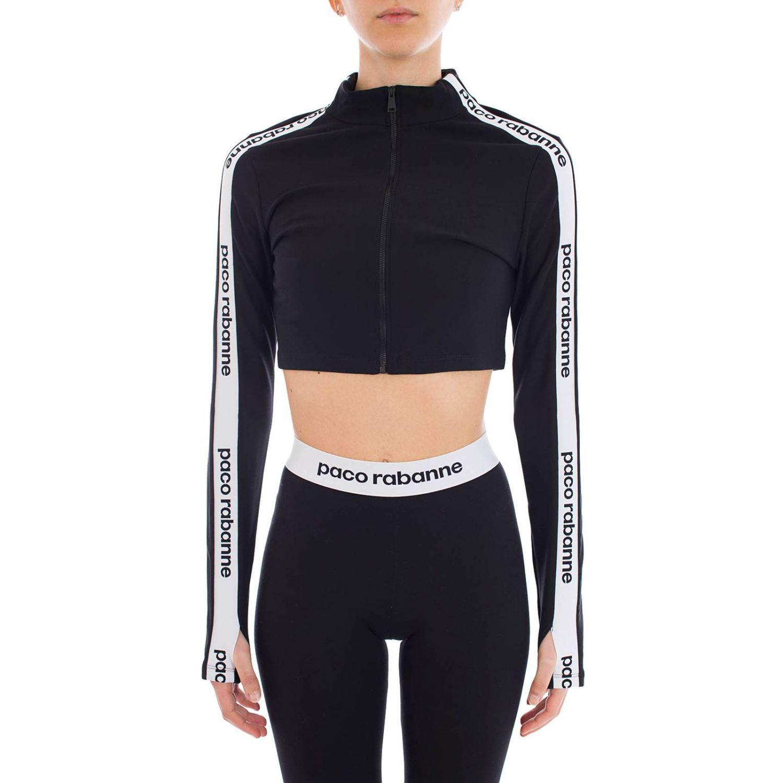 Sweatshirt women Paco Rabanne black 1