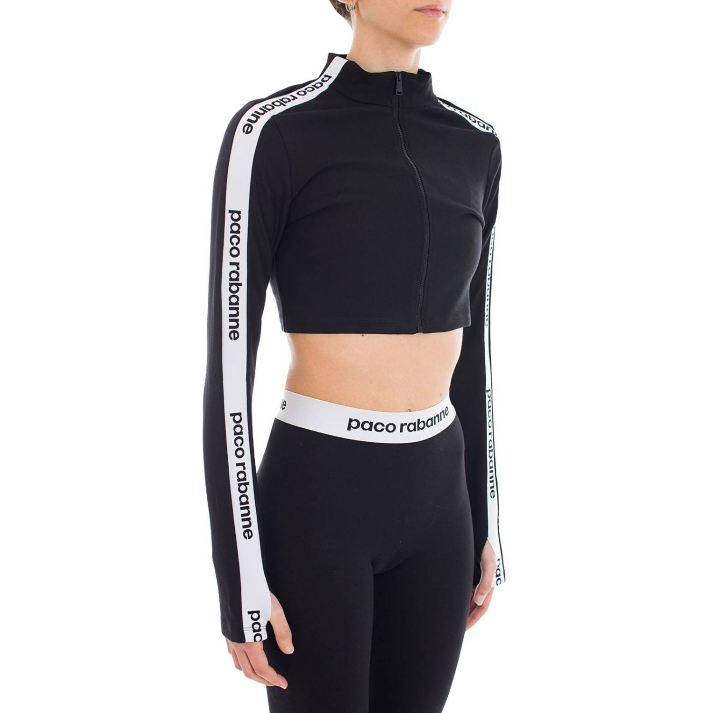 Sweatshirt women Paco Rabanne black 2