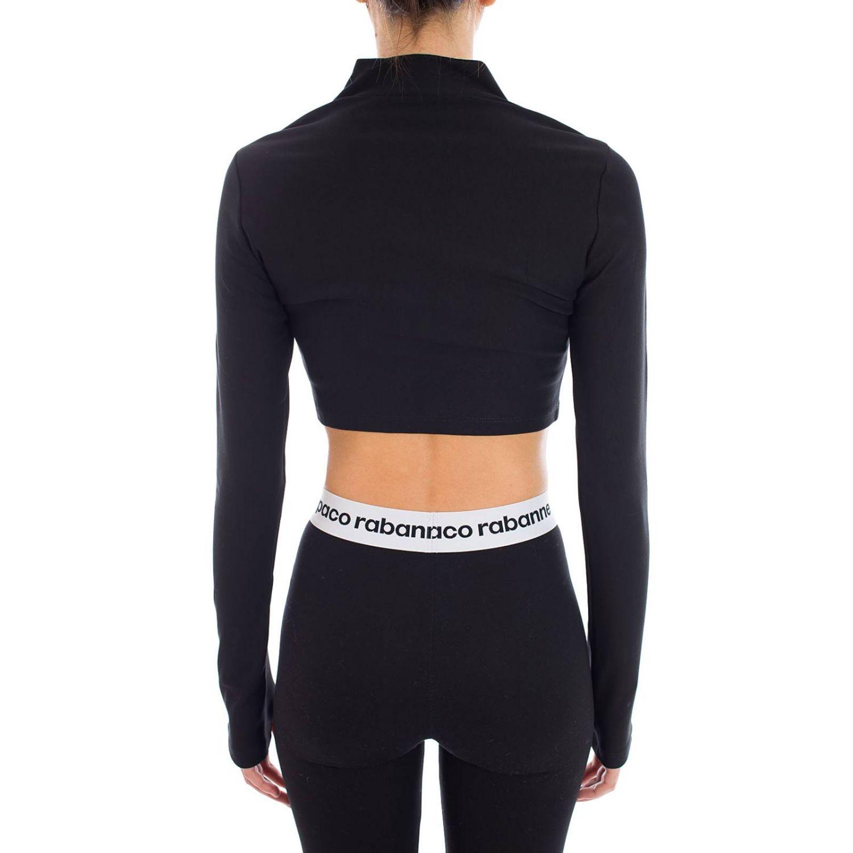 Sweatshirt women Paco Rabanne black 3
