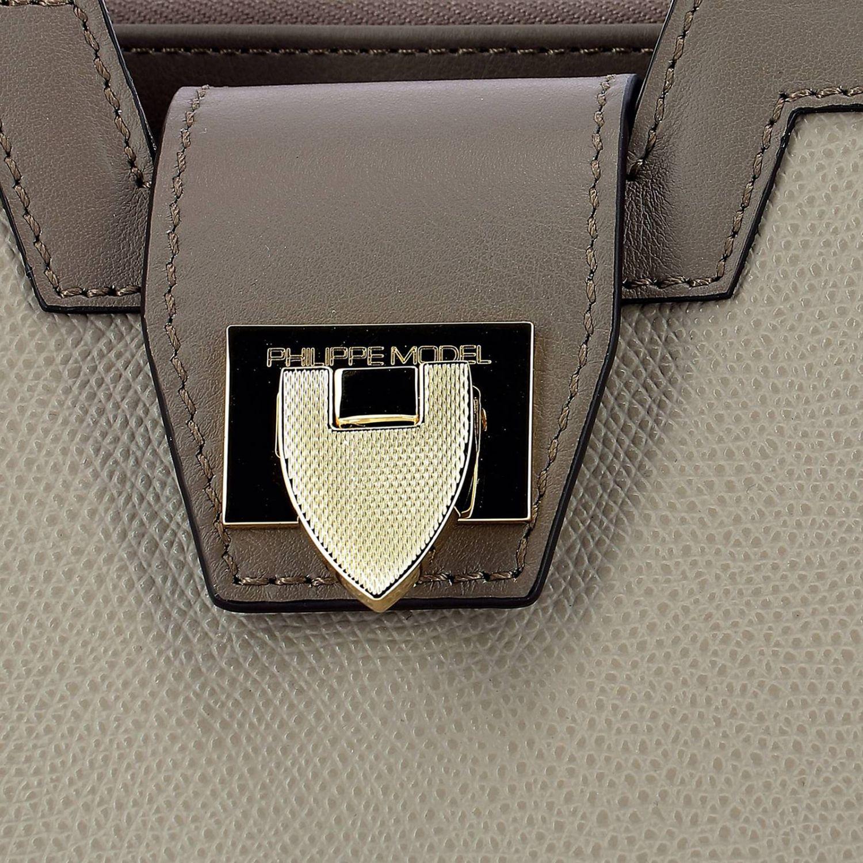 Borsa a mano Philippe Model: Borsa a spalla donna Philippe Model grigio 4