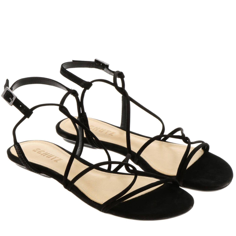 平跟凉鞋 Schutz: 鞋 女士 Schutz 黑色 2