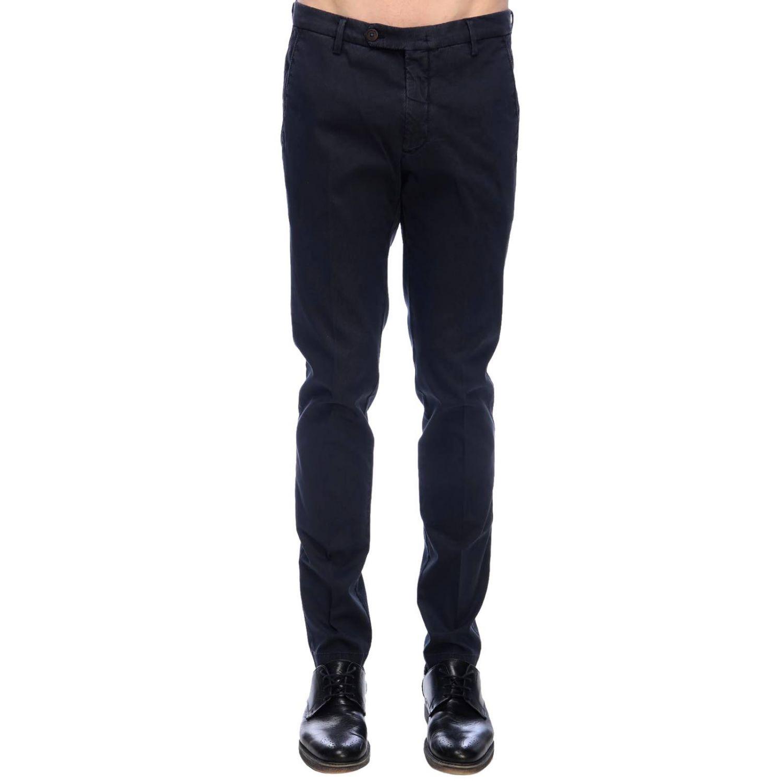 Pantalone Michael Coal classico con tasche america blue navy 1