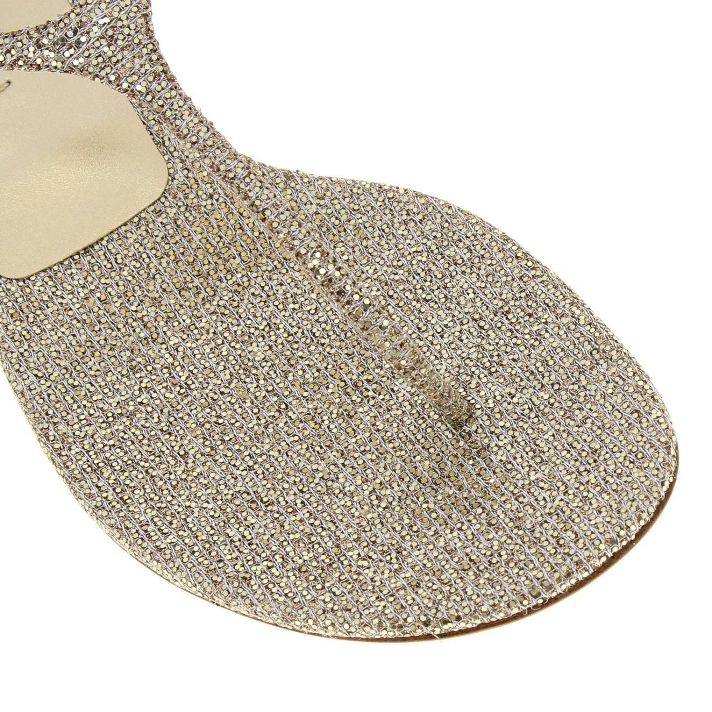 Босоножки на каблуке Женское Casadei платиновый 3
