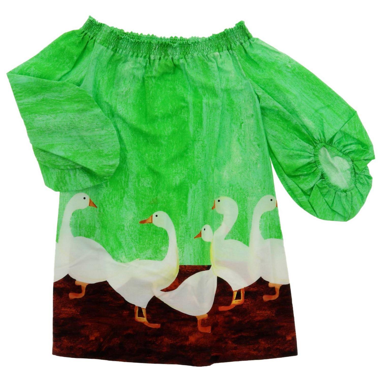 Abito bambino Stella Jean verde 1