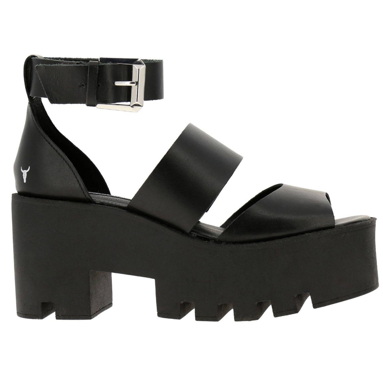 Босоножки на каблуке Женское Windsorsmith черный 1