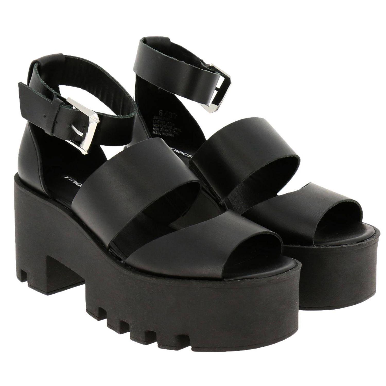 Босоножки на каблуке Женское Windsorsmith черный 2