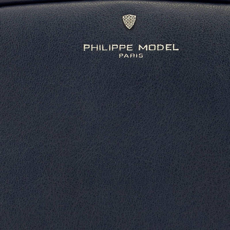 Borsa a spalla donna Philippe Model blue 4