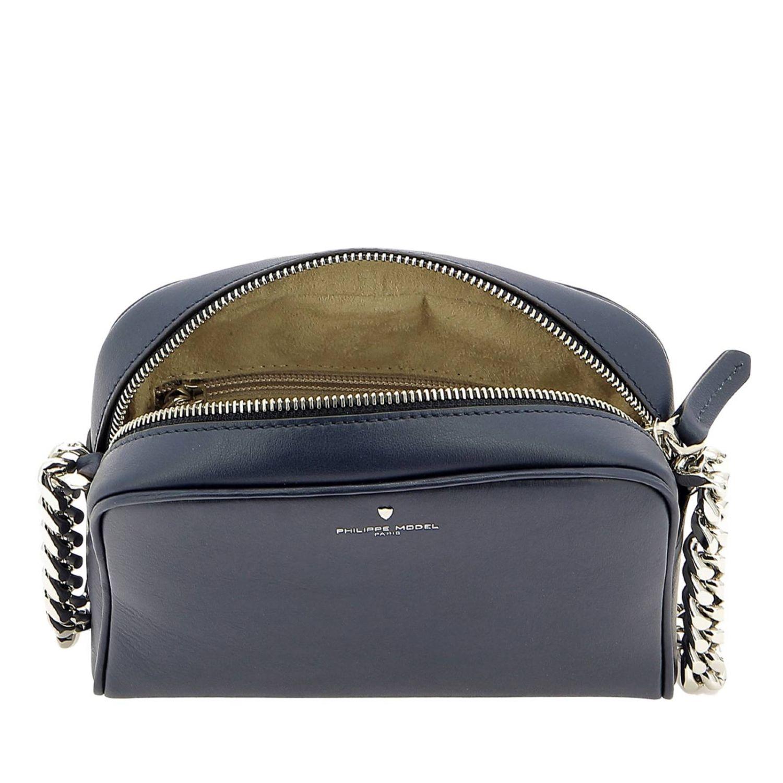 Borsa a spalla donna Philippe Model blue 5