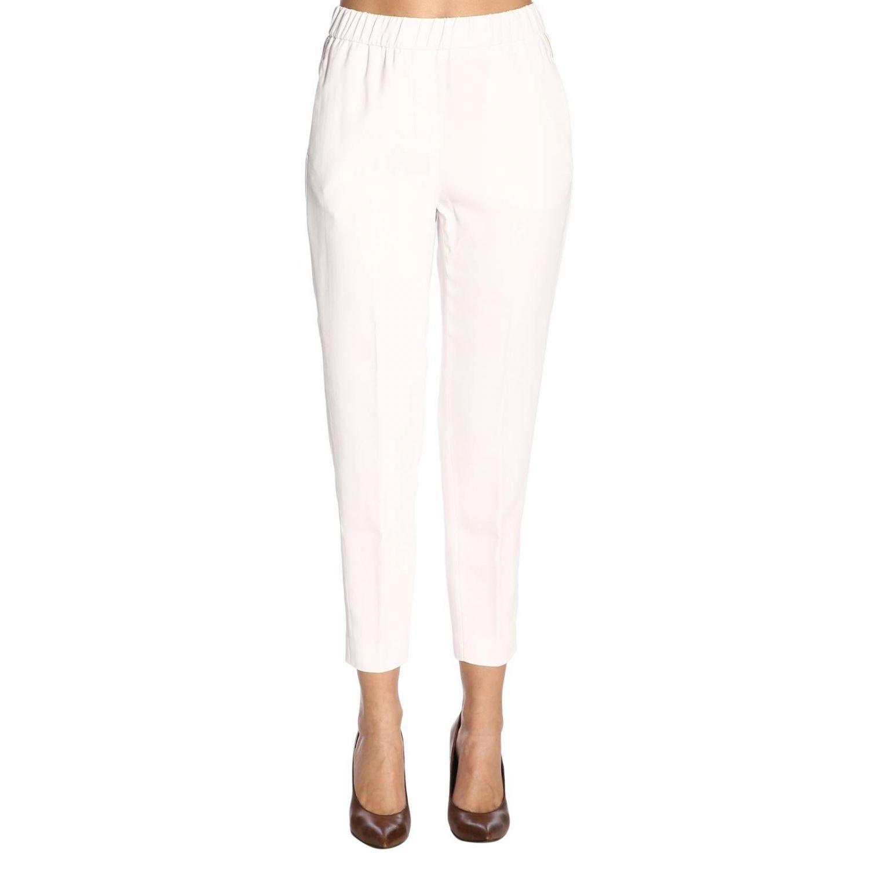 Pantalone donna Peserico bianco 1
