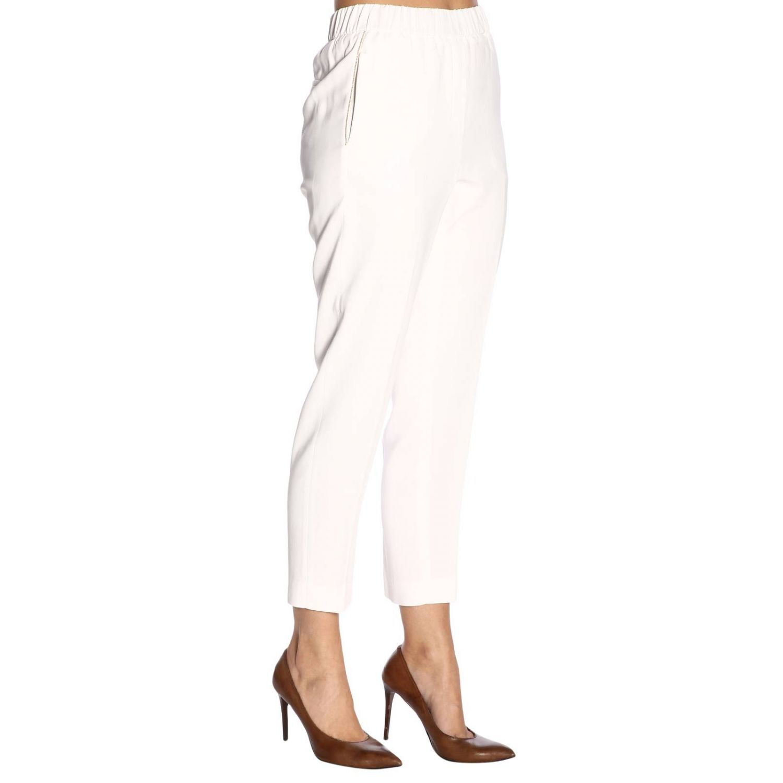 Pantalone donna Peserico bianco 2