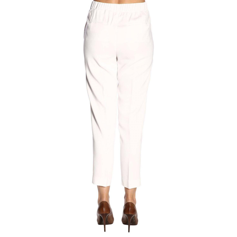 Pantalone donna Peserico bianco 3
