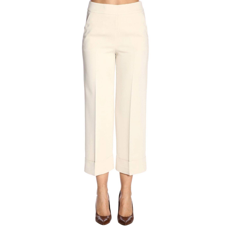 Pantalone donna Peserico panna 1