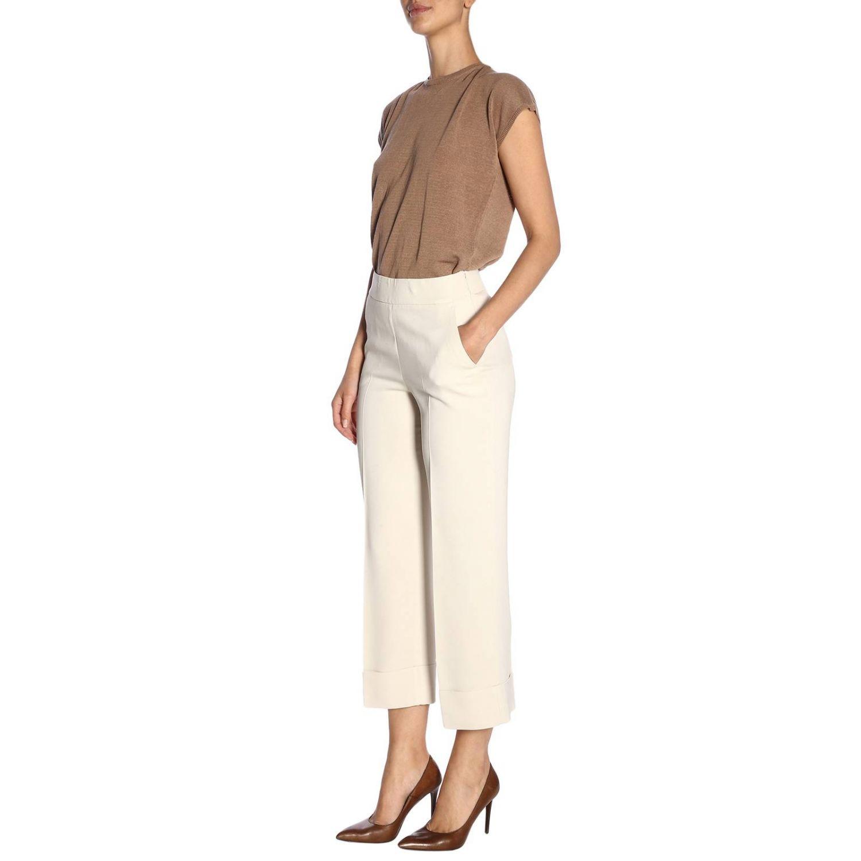 Pantalone donna Peserico panna 4