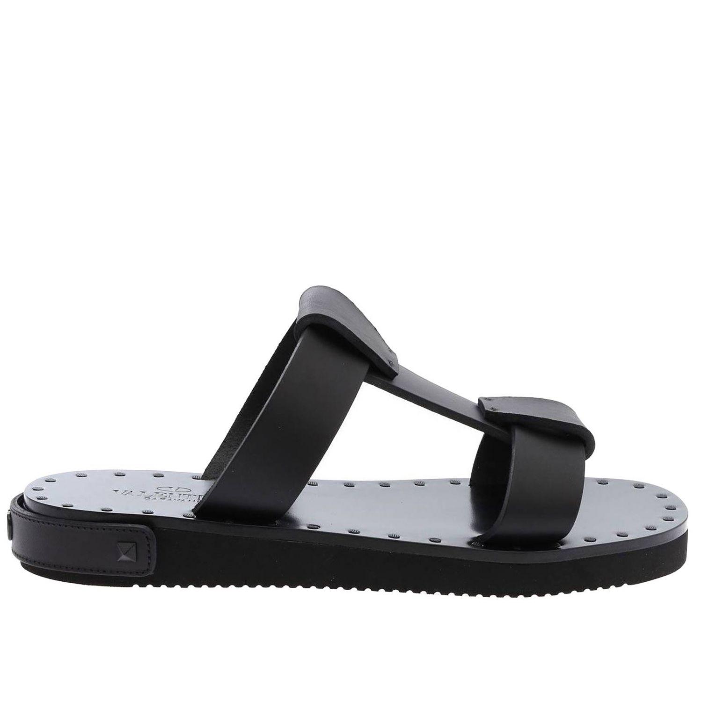Flache sandalen damen Valentino Garavani schwarz 1
