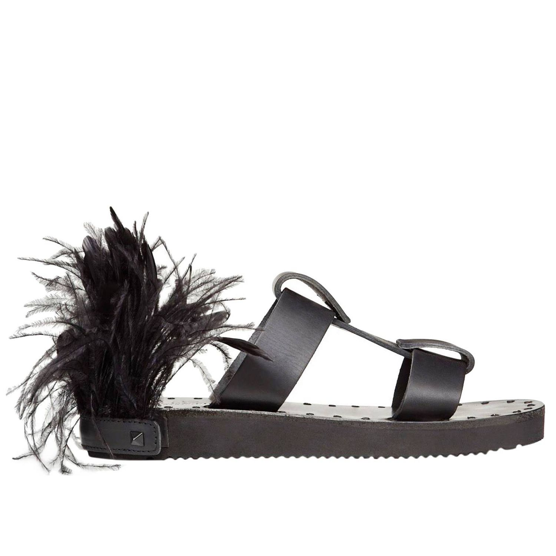 Flache sandalen damen Valentino Garavani schwarz 4