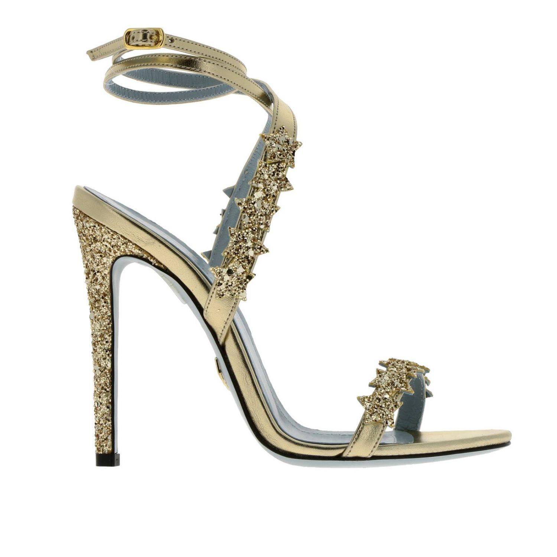 Scarpe con tacco donna Chiara Ferragni oro 1