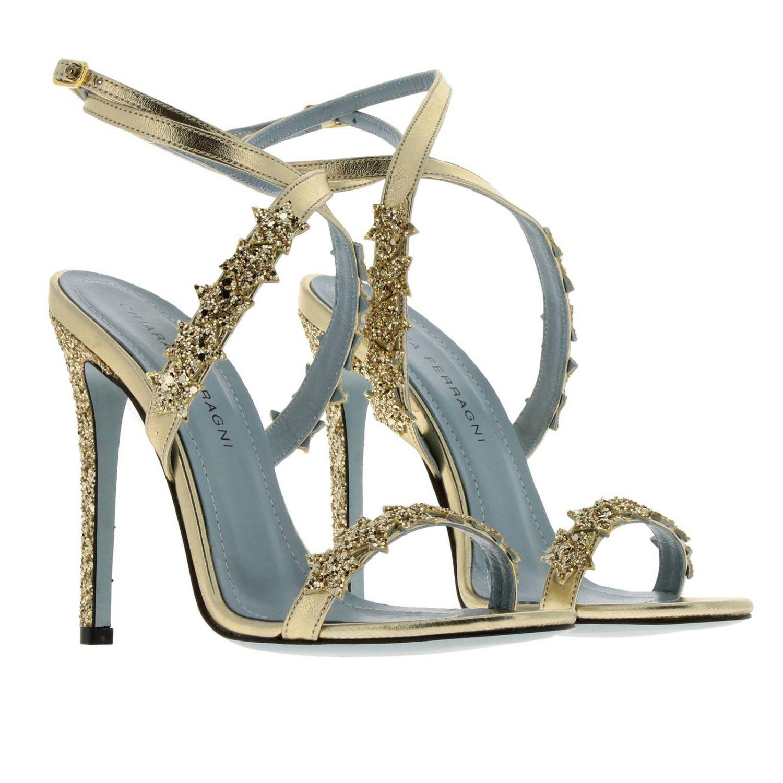 Scarpe con tacco donna Chiara Ferragni oro 2