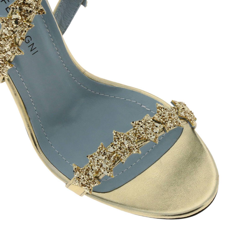 Scarpe con tacco donna Chiara Ferragni oro 3