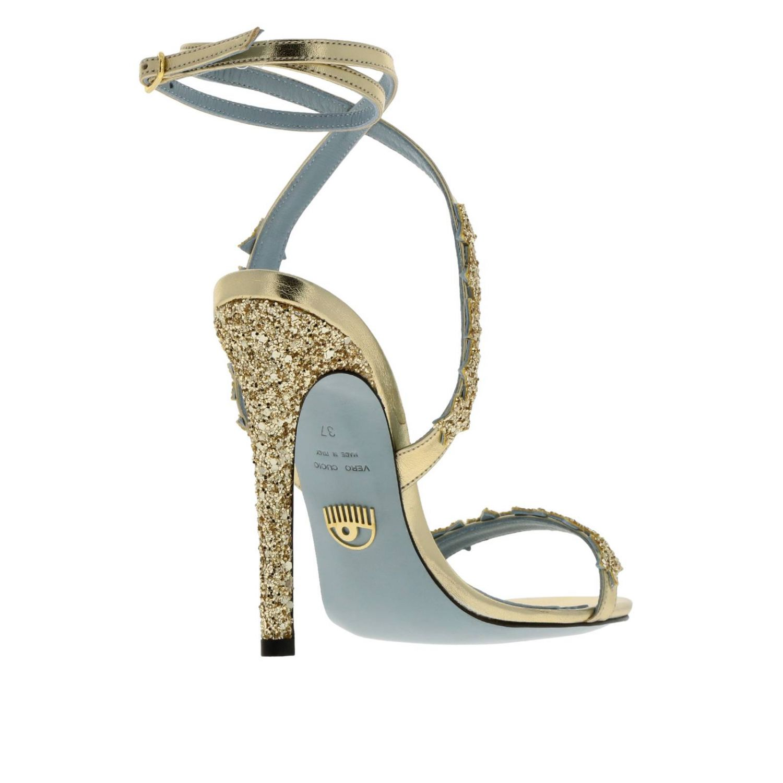 Scarpe con tacco donna Chiara Ferragni oro 4