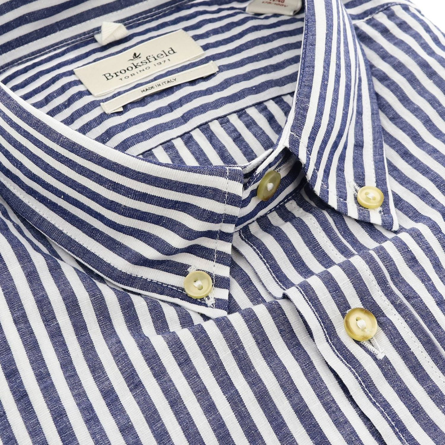 Shirt men Brooksfield blue 2