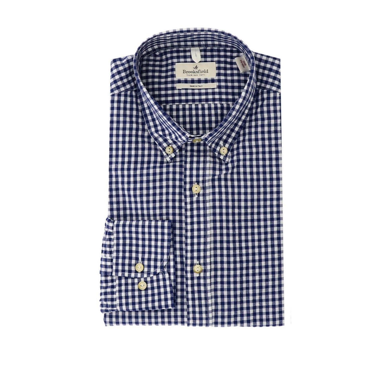 Shirt men Brooksfield blue 1