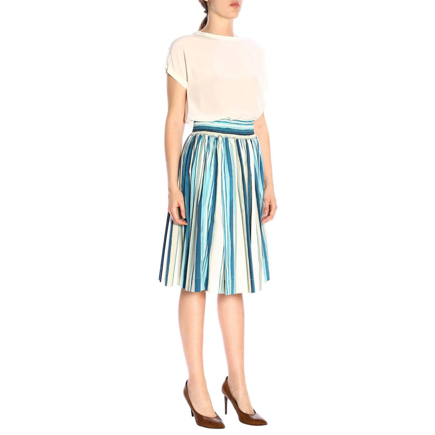 Skirt women Woolrich blue 4
