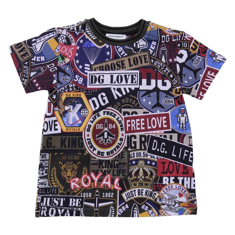 T-shirt kinder Dolce & Gabbana blau 1