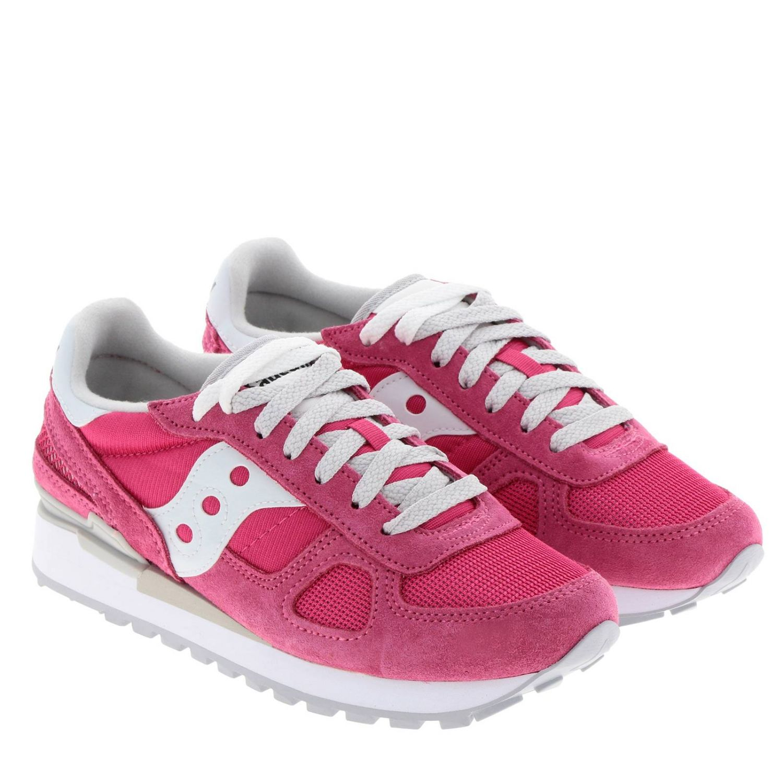 Sneakers Original Saucony in pelle scamosciata pelle liscia e micro rete rosa 2