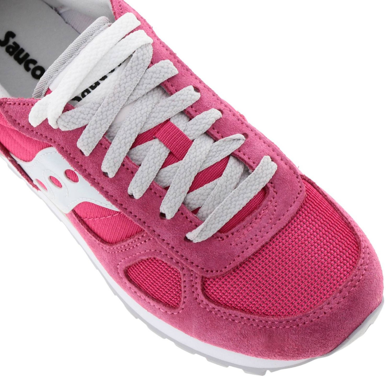 Sneakers Original Saucony in pelle scamosciata pelle liscia e micro rete rosa 3