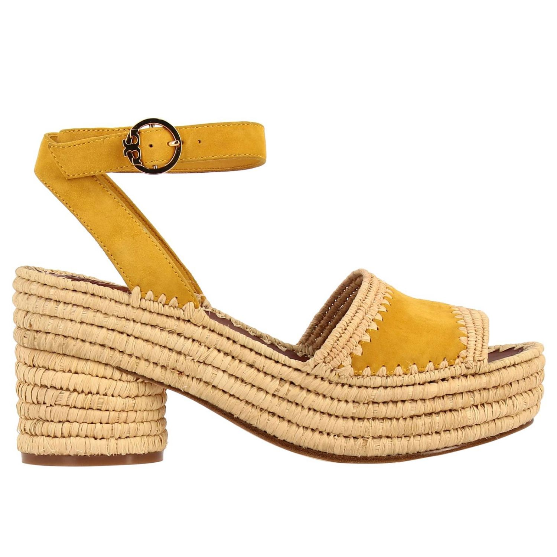 Sandali con tacco Tory Burch: Scarpe donna Tory Burch giallo 1