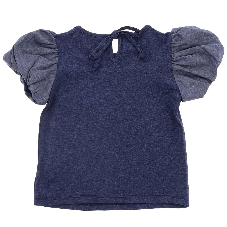 T-shirt kids Piccola Ludo indigo 2