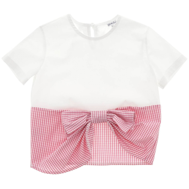 T-shirt kids Piccola Ludo white 1