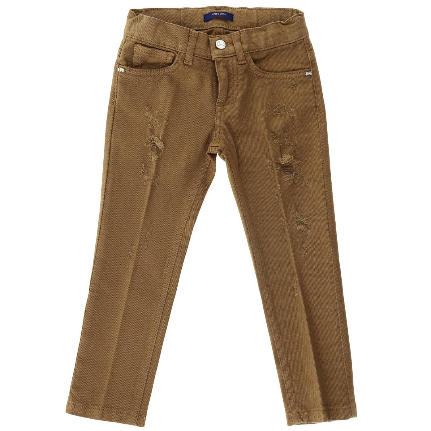 Trousers kids Entre Amis tobacco 1