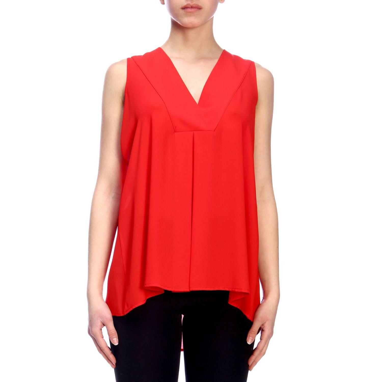 Top femme Kaos rouge 1