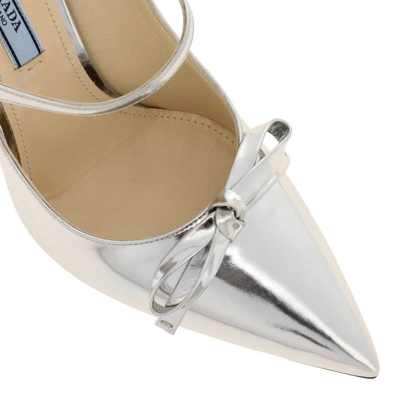 Shoes women Prada silver 3