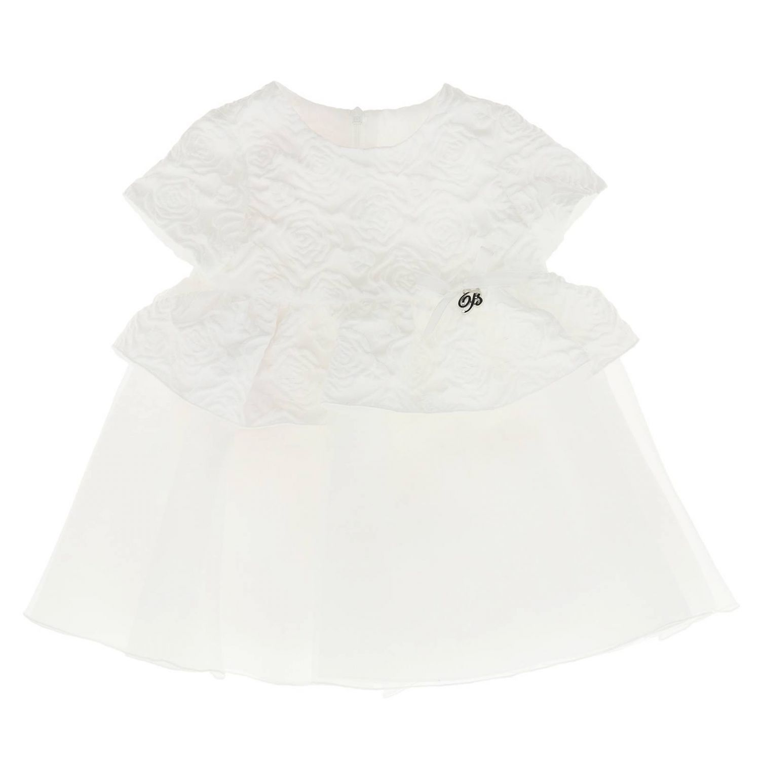 Dress kids Miss Blumarine yellow cream 1