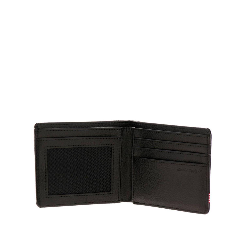 Portafoglio Herschel Supply Co. in pelle nero 2