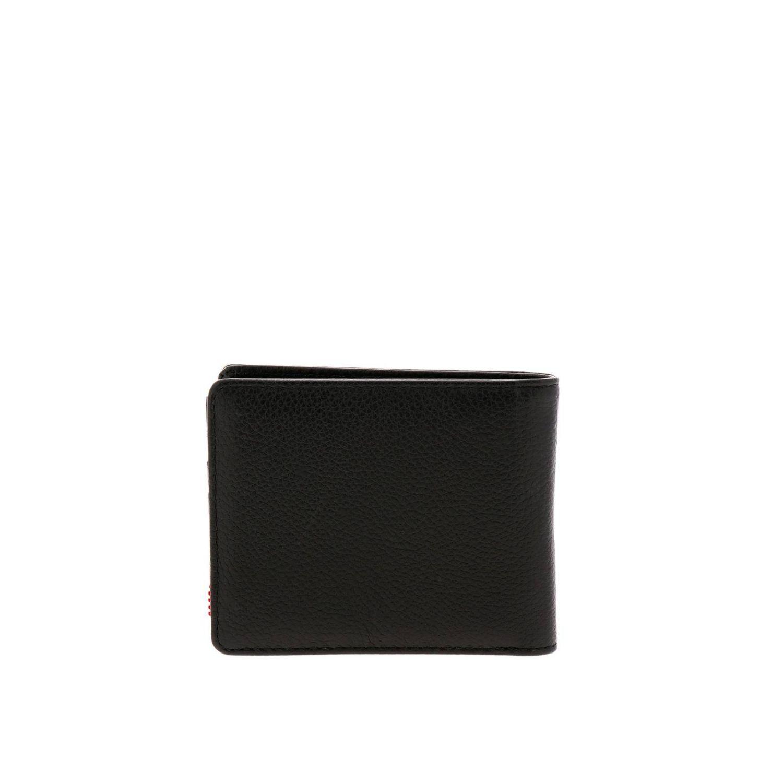 Portafoglio Herschel Supply Co. in pelle nero 3
