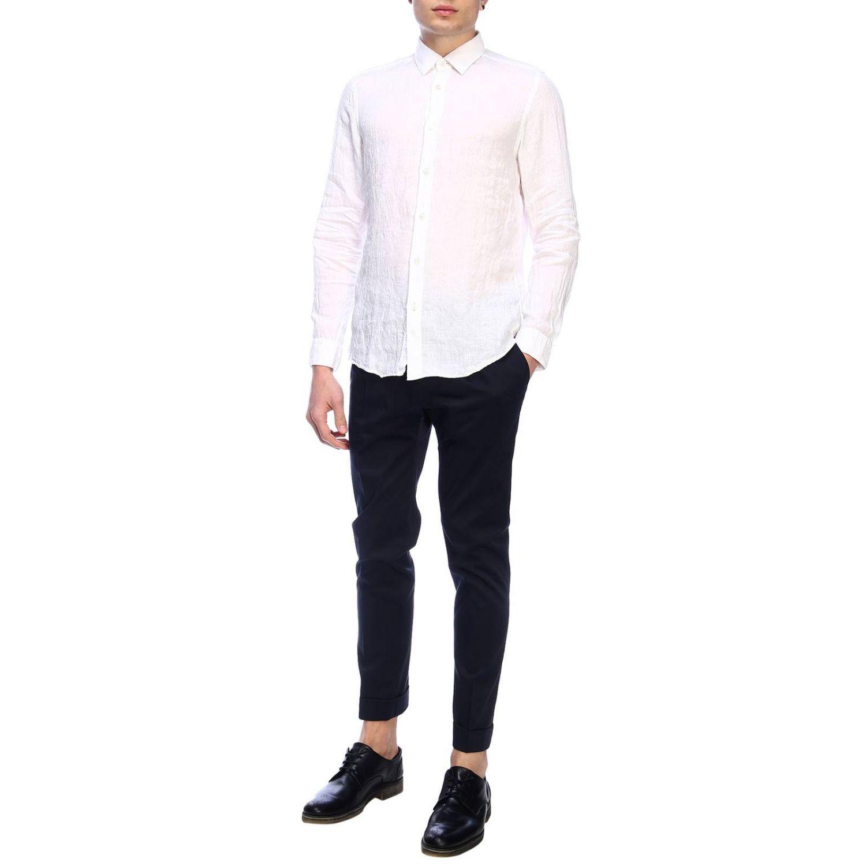 Shirt men Hugo Boss white 5