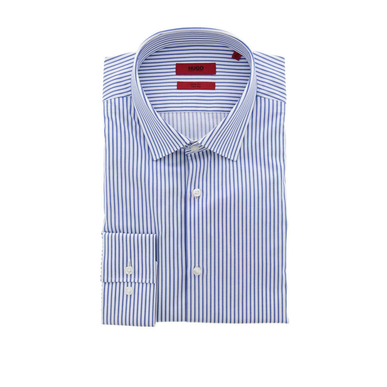 Рубашка Мужское Hugo Boss синий 1