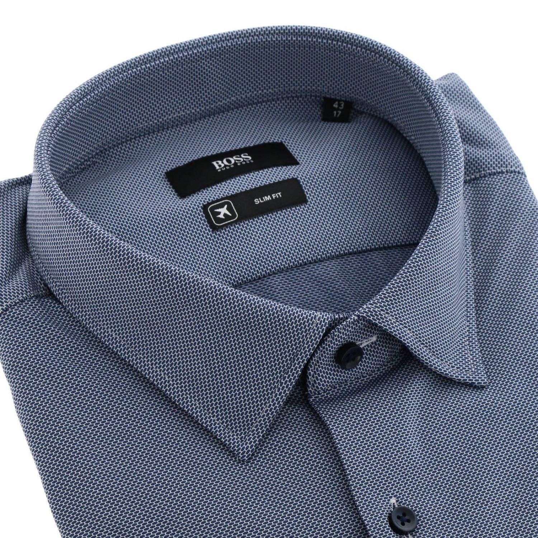 Camisa hombre Hugo Boss azul oscuro 2