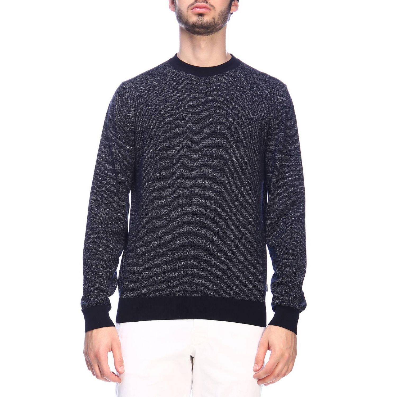 Sweater men Hugo Boss blue 1